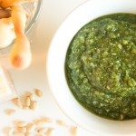 Pesto with basil
