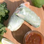 Summer Rolls with Chicken and Sweet Chili Dipping Sauce