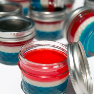 4th of July Jell-O snacks