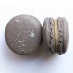 French macarons with licorice ganache